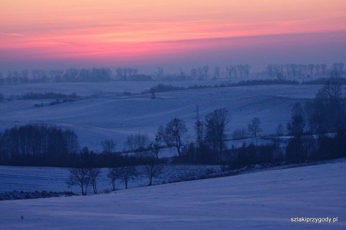 Zachód słońca w okolicy Trzeciewca