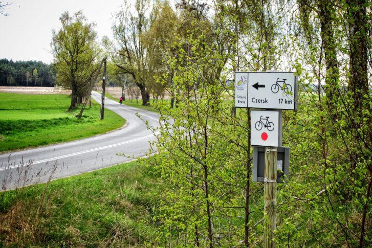 Oznakowanie szlaku Kaszubskiej Marszruty i szlaków towarzyszących