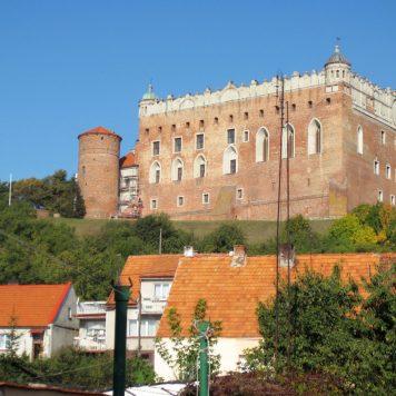 Zamek górujący na Golubiem-Dobrzyniem