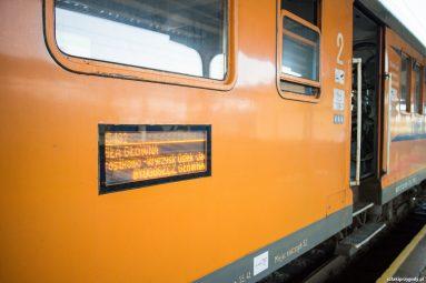 Pociąg powrotny w Pile
