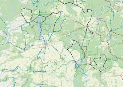 Bory Tucholskie – mapa turystyczna