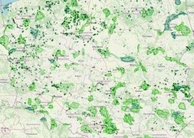 Polska – mapa form ochrony przyrody