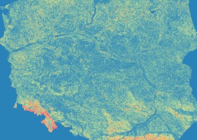 Polska – mapa spadków