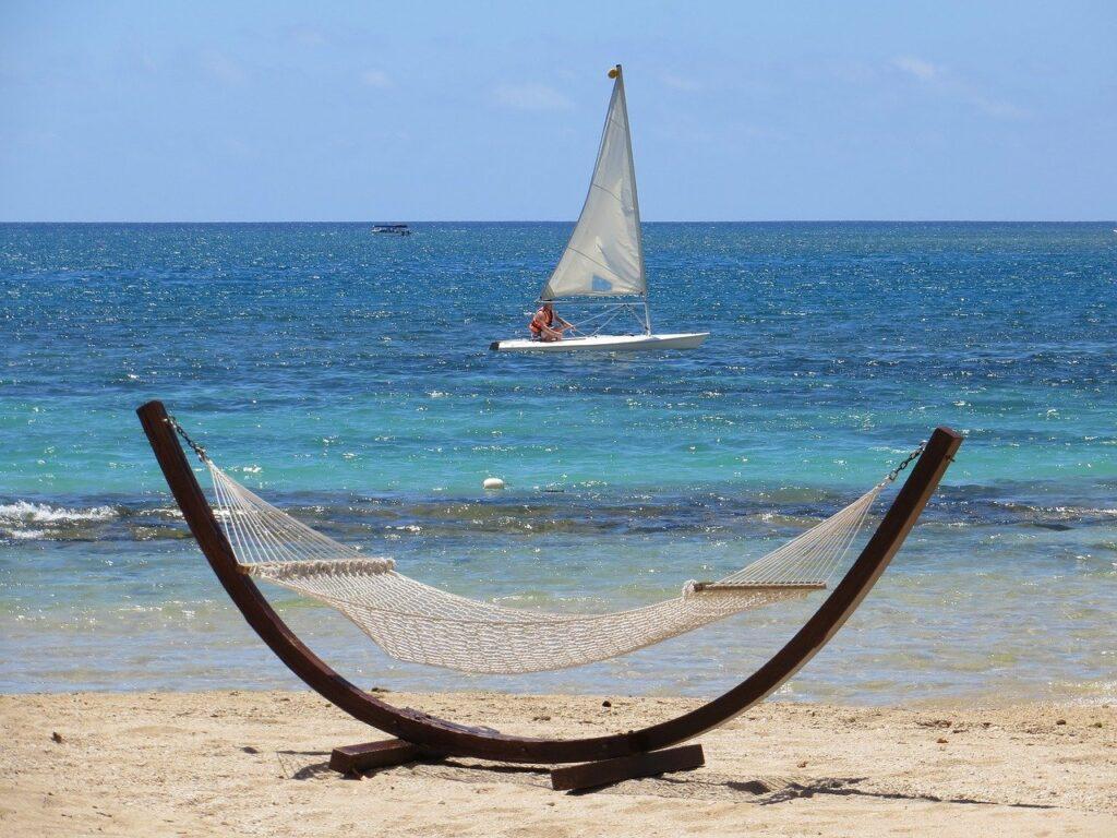 Mauritius morze piasek hamak
